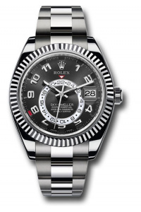 ЧАСЫ SKY-DWELLER 42MM WHITE GOLD 326939 BLACK